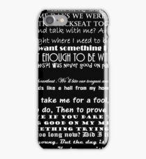 Circa Waves Lyrics iPhone Case/Skin
