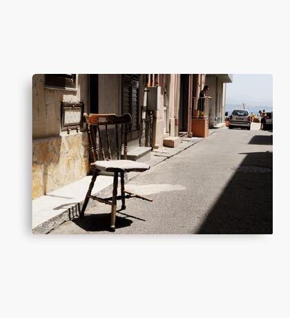 What Is It With Chairs And Sicilians Canvas Print