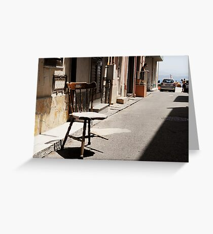 What Is It With Chairs And Sicilians Greeting Card