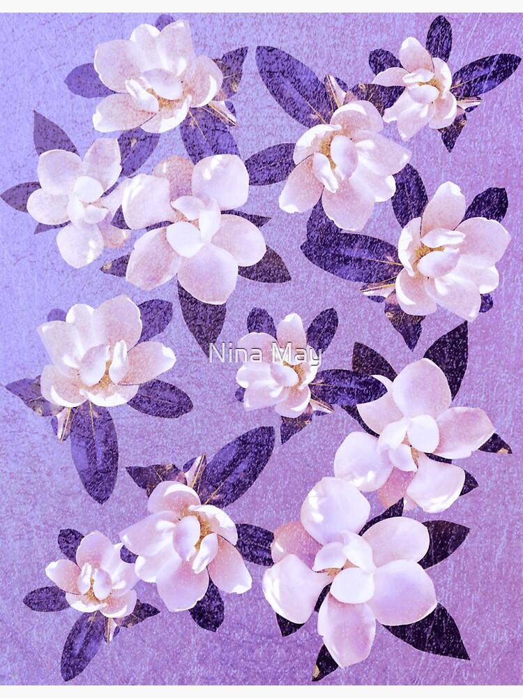 Sweet Violet Magnolias by ninabmay