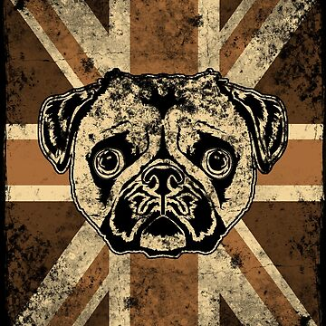 Union Jack Pug by wretchedginger