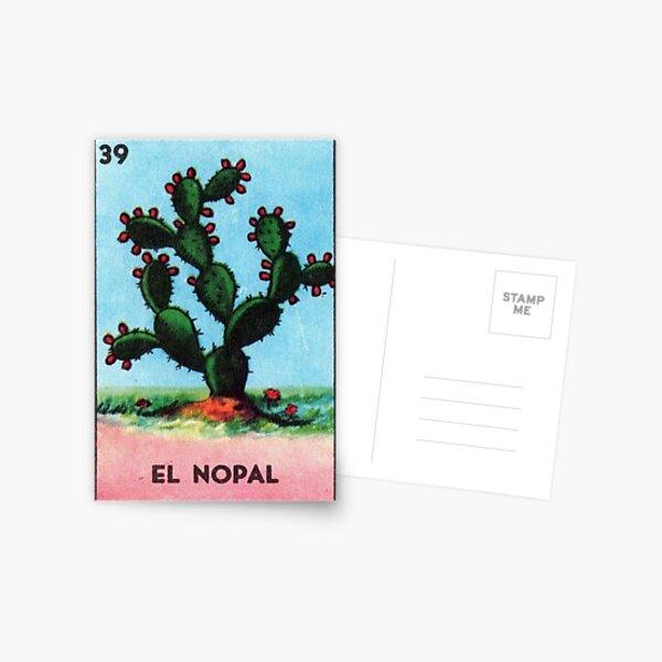 El Nopal Tarot - Loteria Postcard