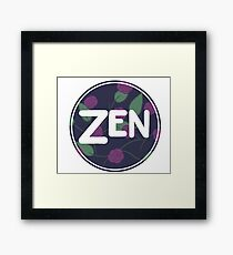 Zen Flower Circle Simple Design Framed Print