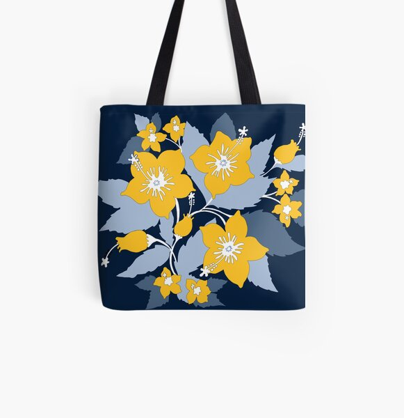 maze and blue All Over Print Tote Bag