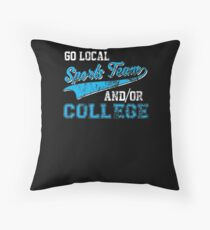 Go Local Sports Team And/Or College Distressed Throw Pillow
