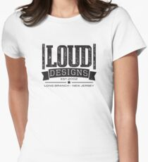 "Logotipo Vintage ""LOUD Designs"" Women's Fitted T-Shirt"