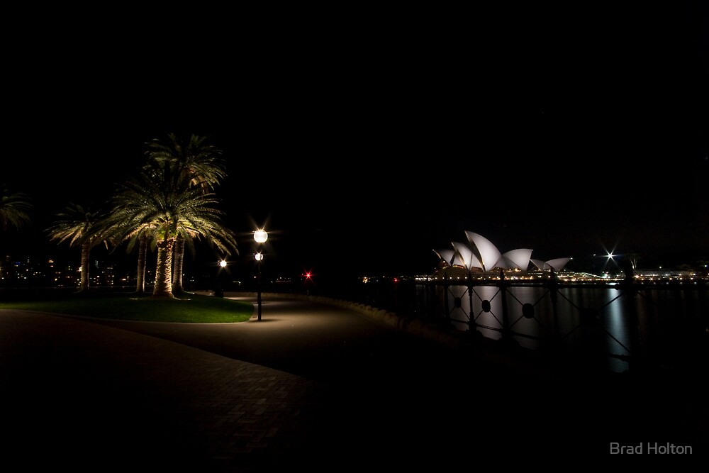 Sydney Opera house with fowlage by Brad Holton