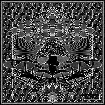 """""""Mushroom Mandala"""", by Brock Springstead by springstead"""