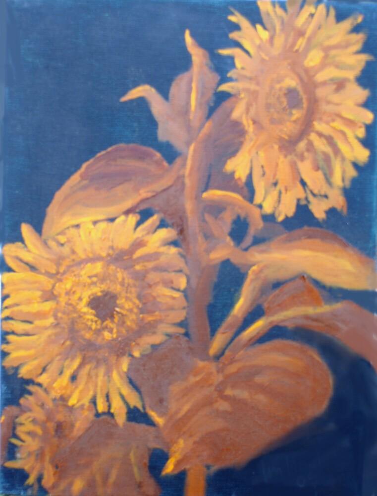 Les tournesols au St. Loup 2 by Phyllis Dixon