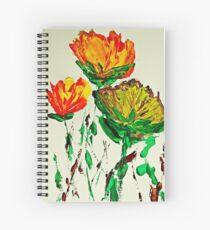 Tre Blomstrer Spiral Notebook