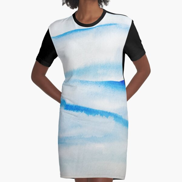 Snowy Hills and Soaring Skies Graphic T-Shirt Dress