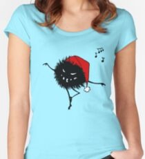 Evil Christmas Bug T-Shirt Women's Fitted Scoop T-Shirt
