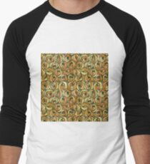 "Charles Rennie Mackintosh ""Roses and teardrops"" edited 3. Men's Baseball ¾ T-Shirt"