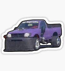 Purple Car Sticker