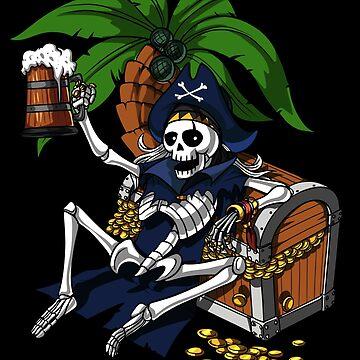 Skeleton Pirate Captain Funny Party  by underheaven