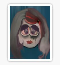 broken doll Sticker