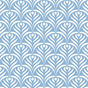 Art deco,pale blue,white,chic,elegant,1020's,great the Gatsby,pattern,retro,vintage, beautiful,scale,shaped,decor,decorative,contemporary,style,stylish by love999