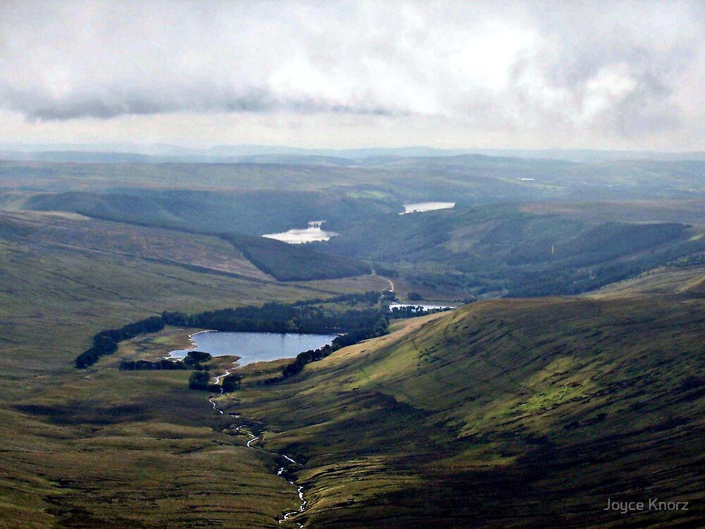 views of Resoviors from top of Penni Y Fan by Joyce Knorz