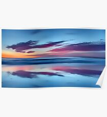 Purple Clouds on a Blue Beach Poster