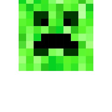 Pixel Face Pattern. Fits for Minecraft Creeper Lowers. Fan Design. by -WaD-