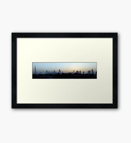 Dubai at sunset Framed Print