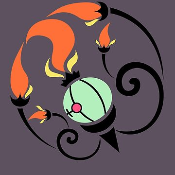 Flame Spirit - Shiny Chandelure by kinokashi