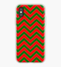 Christmas Red & Green Chevron iPhone Case