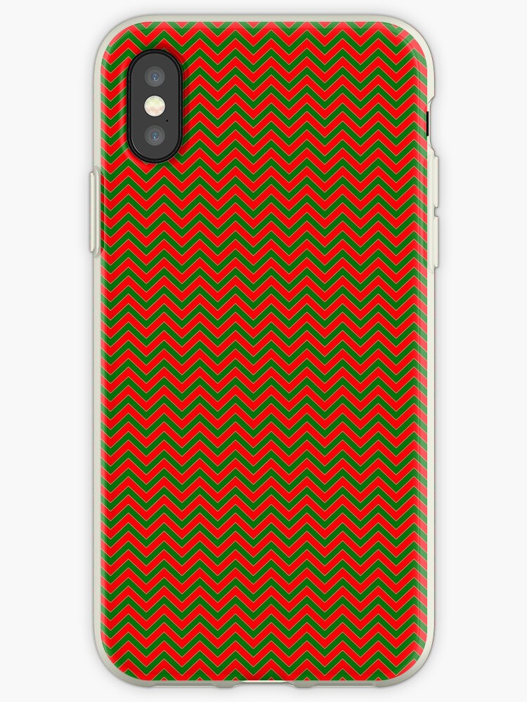 Christmas Micro Red & Green Chevron by podartist