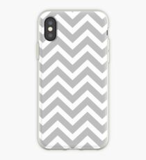 Christmas Silver and White Christmas Chevron iPhone Case