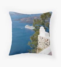 Santorini View - Breathtaking. Throw Pillow