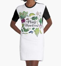 Plant Powered Graphic T-Shirt Dress