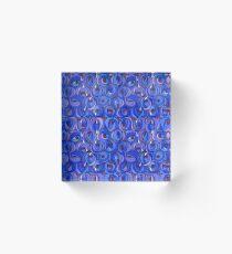 "Charles Rennie Mackintosh ""Roses and teardrops"" edited 7. Acrylic Block"