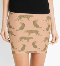 sunset leopard  Mini Skirt