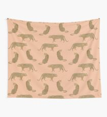 sunset leopard  Wall Tapestry