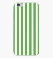 Spring Leaf Green Cabana Stripe iPhone Case