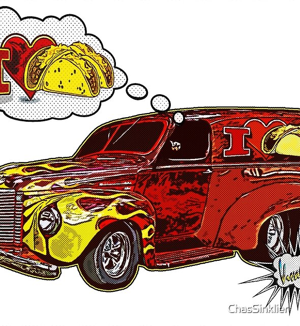 Taco Wagon Dream Tee Shirt from VivaChas! by ChasSinklier