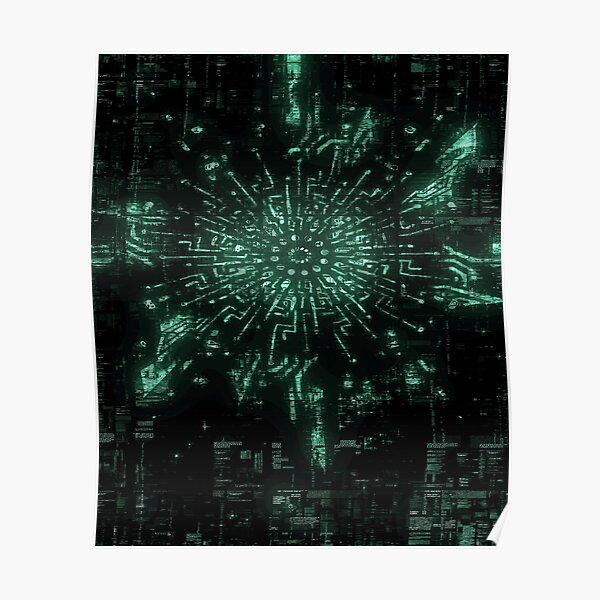 Sacred Geometry - Ghost Pattern Poster