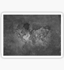 Grey World Map, Grey Large World Map Sticker