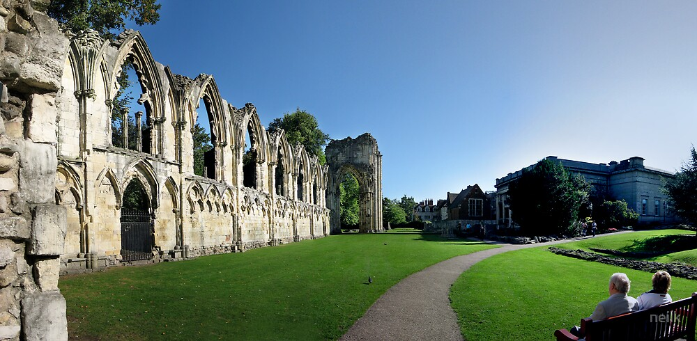 The ruins of St. Mary's Abbey in York by neilk