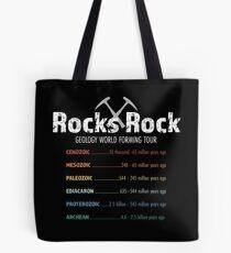 Geologie Rock Konzertreise Tote Bag