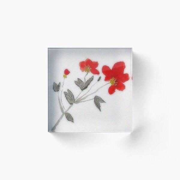 Oriental Poppies Acrylic Block
