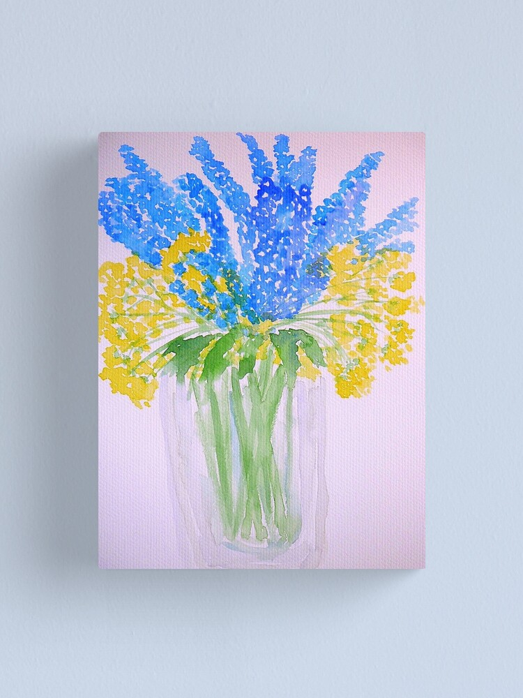 Alternate view of Blue and Yellow Flowers Canvas Print