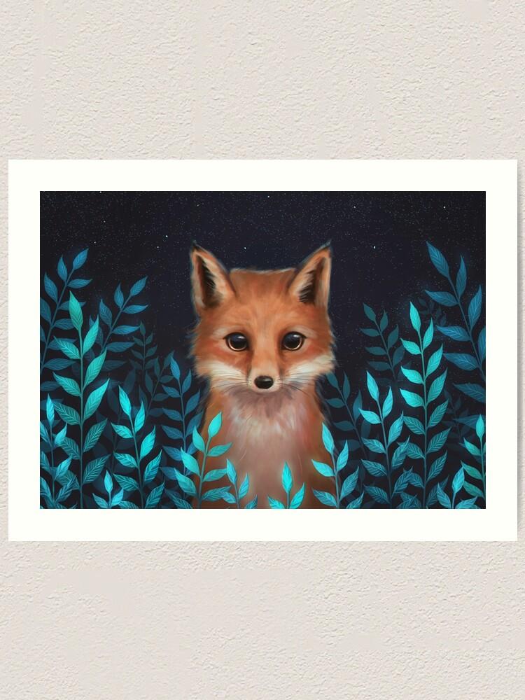 Alternate view of Fox Art Print