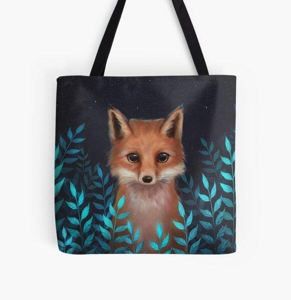 Fox All Over Print Tote Bag
