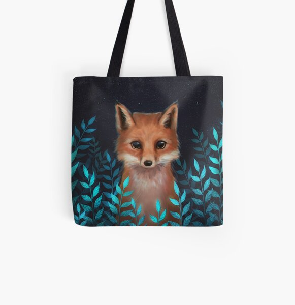 Fox All Over Print Tote Bag