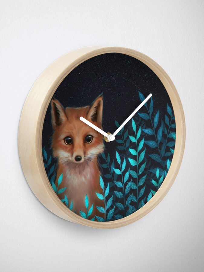 Alternate view of Fox Clock