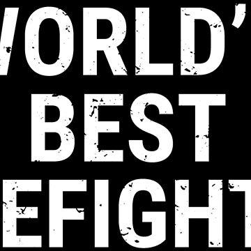 World's Best Firefighter Cool Fireman Gift T-shirt by zcecmza