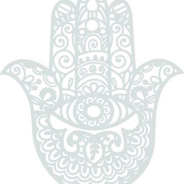 Grey Hamsa Hand of Fatima | Globetrotter by koovox