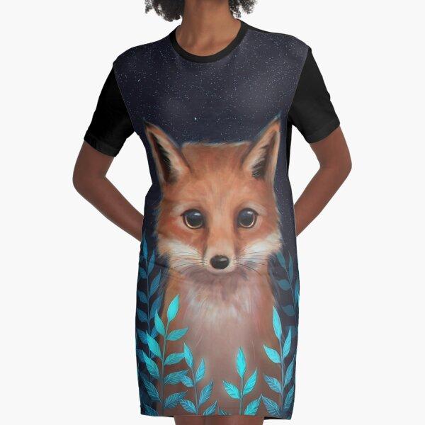 Fox Graphic T-Shirt Dress