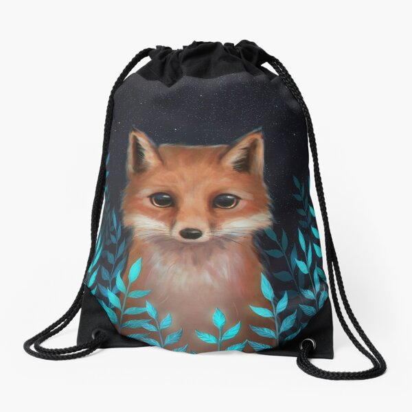 Fox Drawstring Bag
